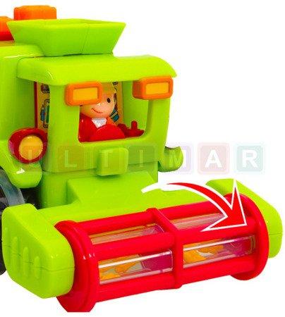 Mix pojazdów betoniarka kombajn zamiatarka figurka