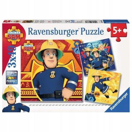 Ravensburger Puzzle Strażak Sam Dzwoń po pomoc 3x49 el.