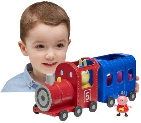Świnka Peppa Pociąg z wagonikami i figurki