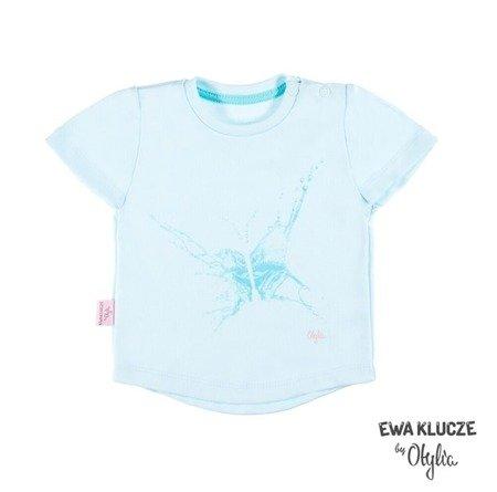 T-shirt Ewa Klucze Little Champion turkus (68-86)
