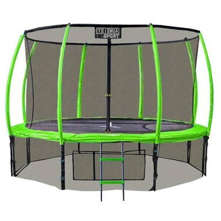 Trampolina 305 cm 10 ft z ringiem, pokrowcem i drabinką zielona