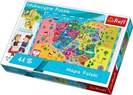 Trefl 15501 Puzzle edukacyjne Mapa Polski 44 el
