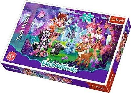 Trefl (16348) Enchantimals Zabawa z przyjaciółmi puzzle 100 el