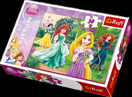 Trefl 18172: Puzzle 30 el - Roszpunka, Merida, Arielka i Śnieżka