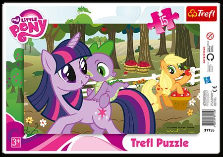 Trefl (31155) Puzzle ramkowe 15 el. W sadzie