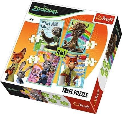 Trefl 34258: Puzzle 4w1 - Portrety