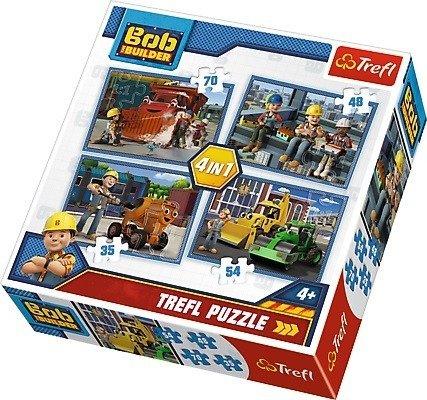 Trefl Puzzle 4w1: Pracowity dzień, Bob Budowniczy