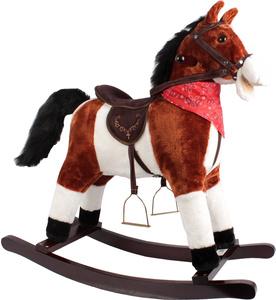 Koń na biegunach śpiewający duży bujany konik